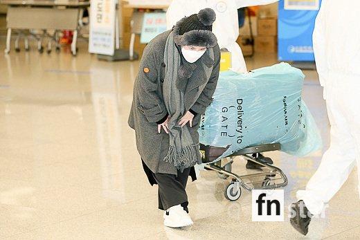 [포토] 에이미, '떨리는 입국인사'