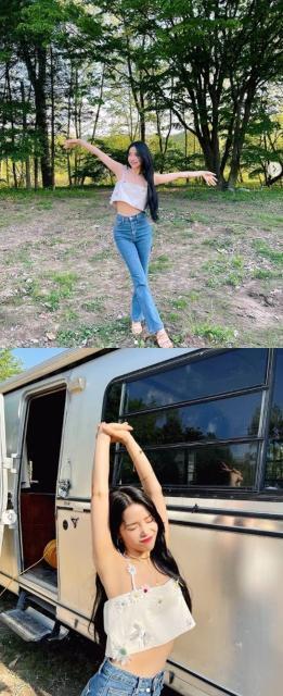 마마무 솔라, 신이 내린 비율…개미허리+...