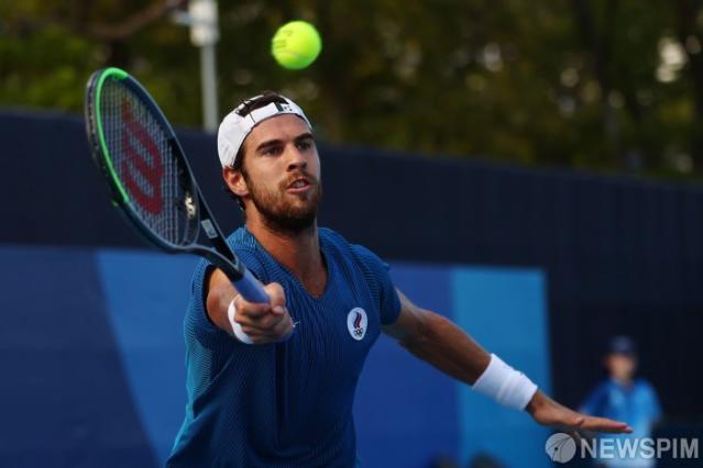 [사진] 찜통 더위속의 남자 테니스 선수...